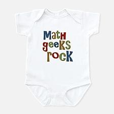 Math Geeks Rock Nerd Humor Infant Bodysuit
