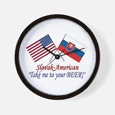 Slovak/American 1 Wall Clock