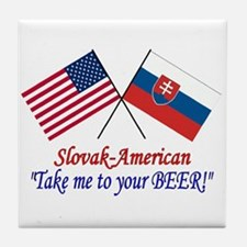 Slovak/American 1 Tile Coaster