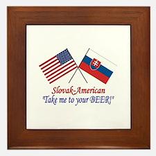 Slovak/American 1 Framed Tile