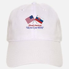 Slovak/American 1 Baseball Baseball Cap