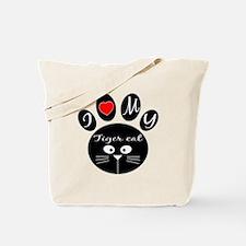 I love my Tiger cat Tote Bag