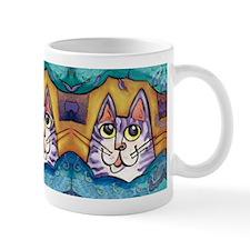 Fun Happy Purple Cat Mug