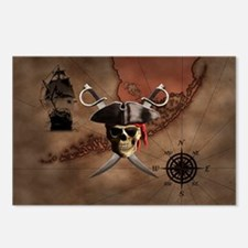 Pirate Map Postcards (Package of 8)
