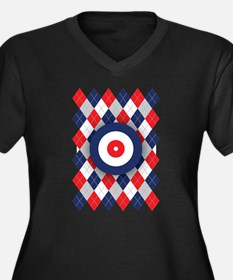 Norwegian Curling Argyle pattern Plus Size T-Shirt