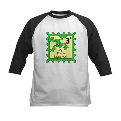 Daddy Loves Me FROG Kids Baseball Jersey