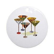 Cute Martini Round Ornament