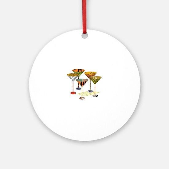 Cute Martini Round Ornament