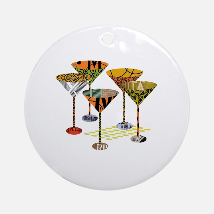 Cute Cocktails Round Ornament