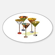 Cute Cocktails Sticker (Oval)