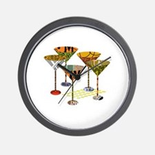 Funny Cocktails Wall Clock