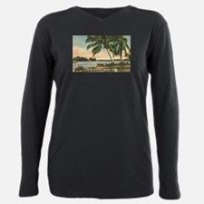 Vintage Coconut Palms Plus Size Long Sleeve Tee