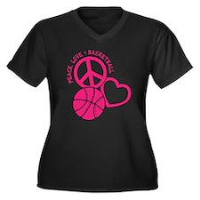 PEACE, LOVE, Plus Size T-Shirt