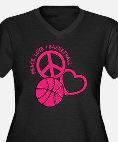 PEACE, LOVE, Plus Size T-Shirt