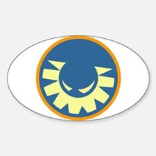 Wicked Sunshine (Orange) Oval Decal