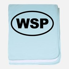 WSP Black Euro Oval baby blanket