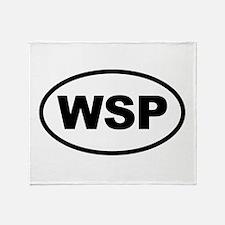 WSP Black Euro Oval Throw Blanket