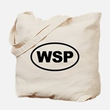 WSP Black Euro Oval Tote Bag