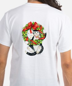 Front- back Christmas Kitty Tee Shirt