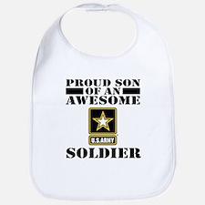 Cute Proud army son Bib
