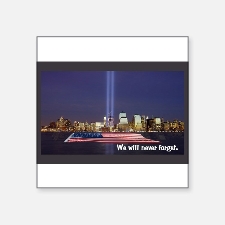 9/11 Tribute - Never Forget Sticker