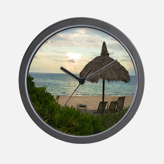 Relaxing On The Beach Wall Clock
