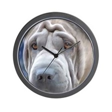 Blue Chinese Shar-Pei Wall Clock