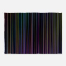 Decorative Colorful Stripes 5'x7'Area Rug