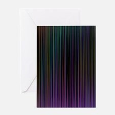 Decorative Colorful Stripes Greeting Cards