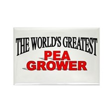 """""""The World's Greatest Pea Grower"""" Rectangle Magnet"""