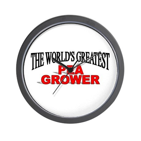 """The World's Greatest Pea Grower"" Wall Clock"