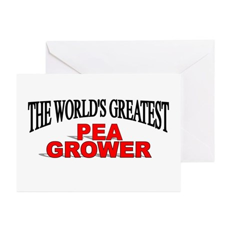 """The World's Greatest Pea Grower"" Greeting Cards ("