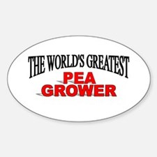 """The World's Greatest Pea Grower"" Oval Decal"