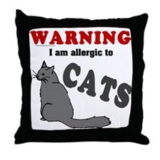 Allergic To Cats Throw Pillow
