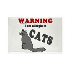 Allergic To Cats Rectangle Magnet