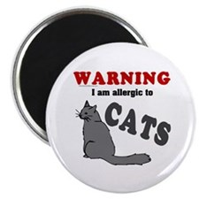 Allergic To Cats Magnet