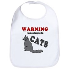 Allergic To Cats Bib