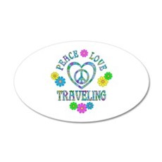 Peace Love Traveling Wall Decal