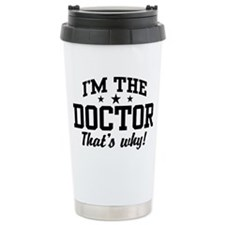 Cute Doctor Stainless Steel Travel Mug