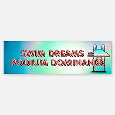 Swim Podium Dominance Bumper Bumper Sticker