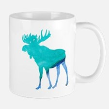 Turquoise and Blue Moose Mugs