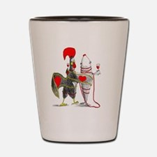 Funny Portugal rooster Shot Glass