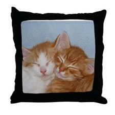 Kitten Friends Throw Pillow