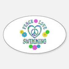 Peace Love Swimming Decal