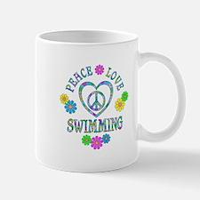 Peace Love Swimming Mug