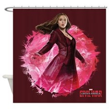 Scarlet Witch Red Energy Shower Curtain