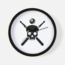 Billiards skull Wall Clock