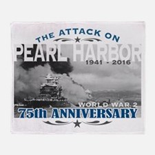 Pearl Harbor Attack Throw Blanket