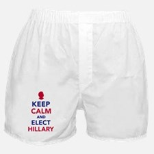 Keep calm and elect Hillary Boxer Shorts