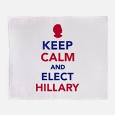 Keep calm and elect Hillary Throw Blanket